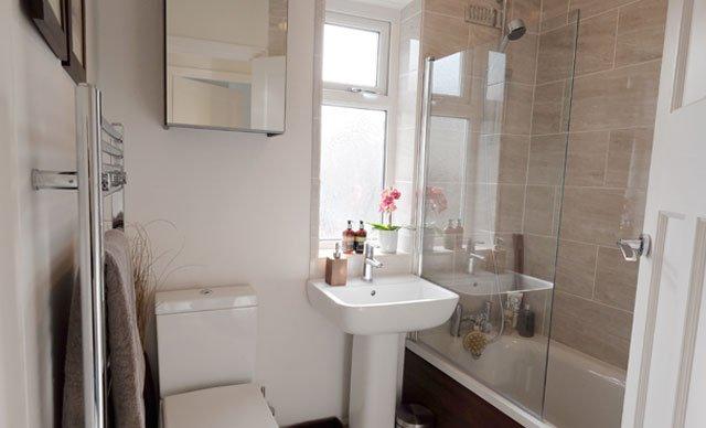 after full house renovation bathroom